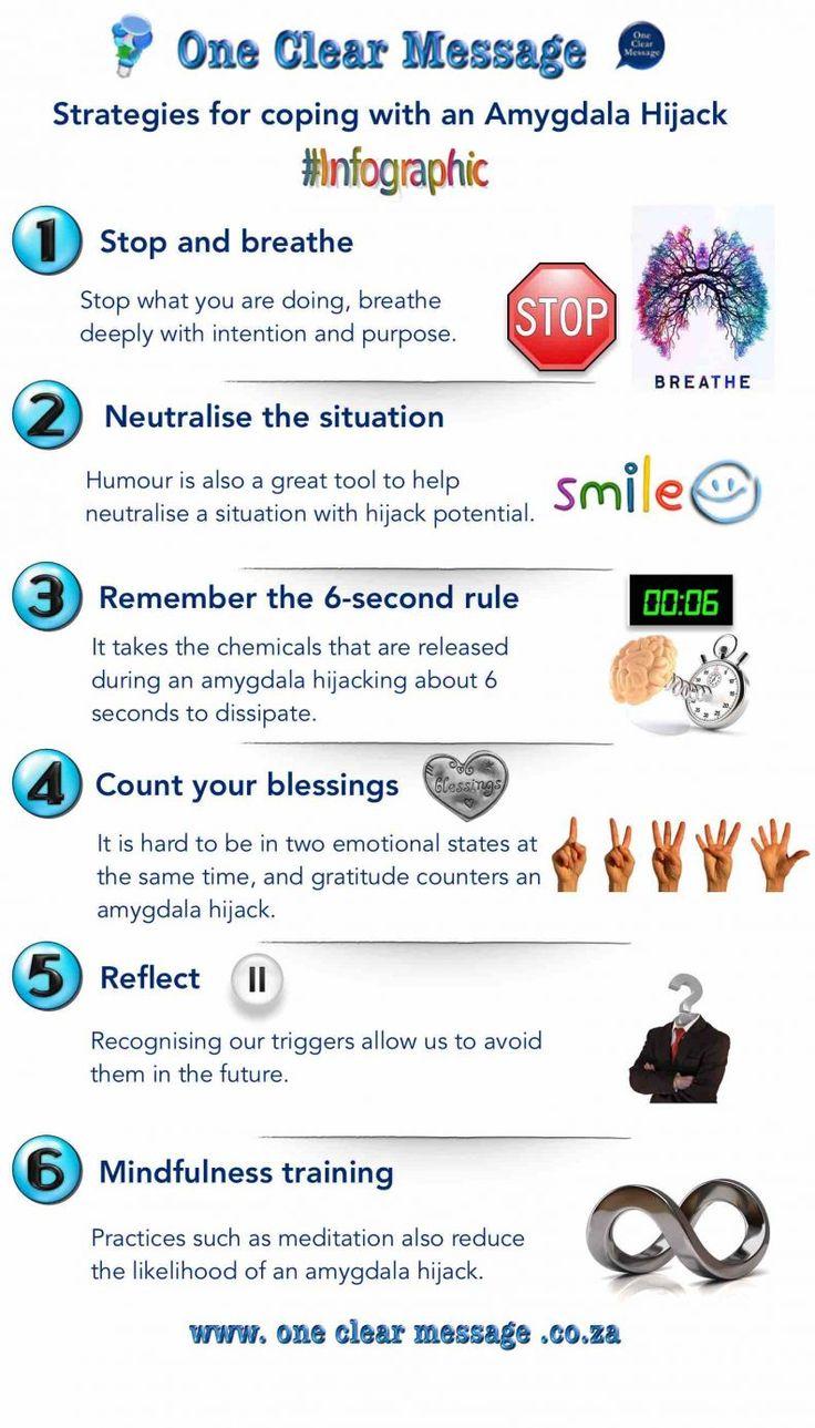 Strategies for coping with an #AmygdalaHijack #FightOrFlight #Infographic