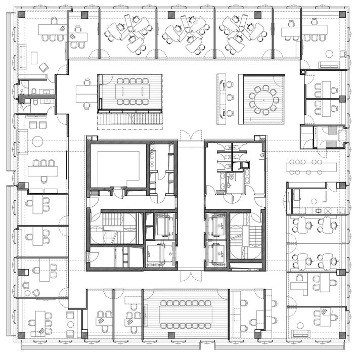 221 best images about office design on pinterest for Ideal office layout