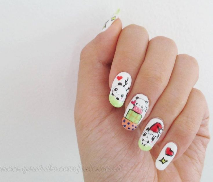 Best 25 panda nail art ideas on pinterest cool easy nail 69 cute panda nail art designs trends 2018 prinsesfo Images