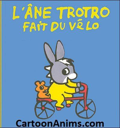 Trotro fait du vélo - l'ane Trotro www.cartoonanims.com
