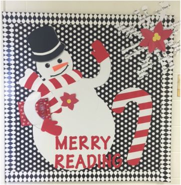 Library Bulletin Board for December based on a card at http://cherrysjubileehome.blogspot.com/search?updated-max=2010-11-15T22:04:00-08:00&max-results=50