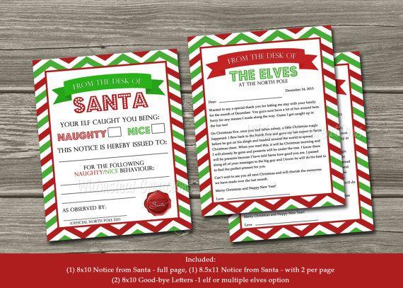 Official Elf Report - Naughty or Nice Behavior Letter From Santa (Digital File) Bonus Elf Goodbye Letters Included