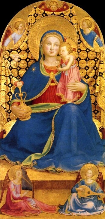 The Madonna of Humility, 1433-1435, Fra Angelico (1387-1455)