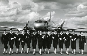 This week we are celebrating our 88th anniversary and our great design heritage. We will take the retro-painted Airbus A319 on its final flight to where else but Milan, the heart of design and fashion.    This photo was taken in 1950's, weren't they just fab?!
