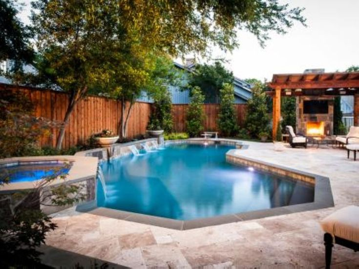 39 pool waterfalls ideas for your outdoor space - Swimming Pools With Waterfalls