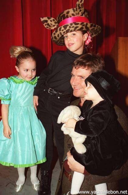 Simon, Amber, Saffron and Tallulah Le Bon 1995 AIDS Benefit