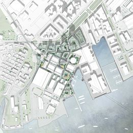 Henning Larsen designs new urban district in Gothenburg :: The masterplan will create and reinforce a dense and diverse urban district around the Chalmers University and Lindholmen Science Park