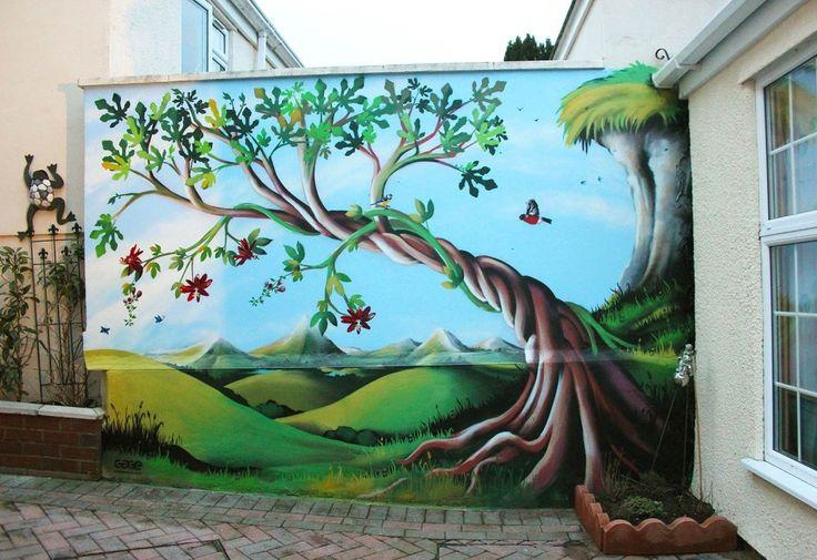 1000 ideas about garden mural on pinterest garden wall for Butterfly garden mural
