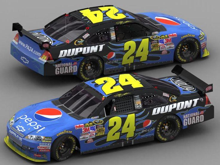 jeff gordon car   Here's Jeff Gordon's Pepsi car that will be driven at California for ...