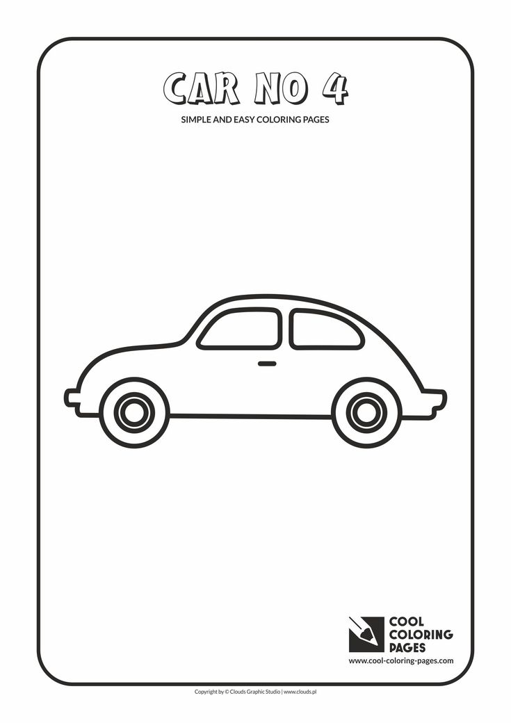 Simple and easy coloring pages for toddlers - Car no 4