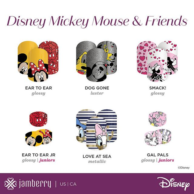 Dinsey Collection by Jamberry. Disney Mickey Mouse & Friends. Disney Donald Duck. Disney Daisy Duck. Disney Pluto. Disney Minnie Mouse. Jamberry Nail Wraps.