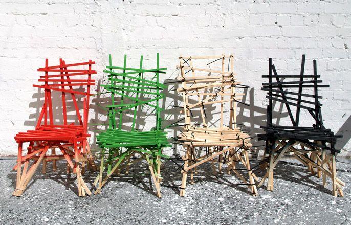 stick chairs by godspeed: Furniture Re Do, Godspeed Furniture, Wood Planks, Furniture Prehistoric, Rusticmount Nmagic Design, Furniture Ideas, Godspeed Stick Chairs, Plank Chairs