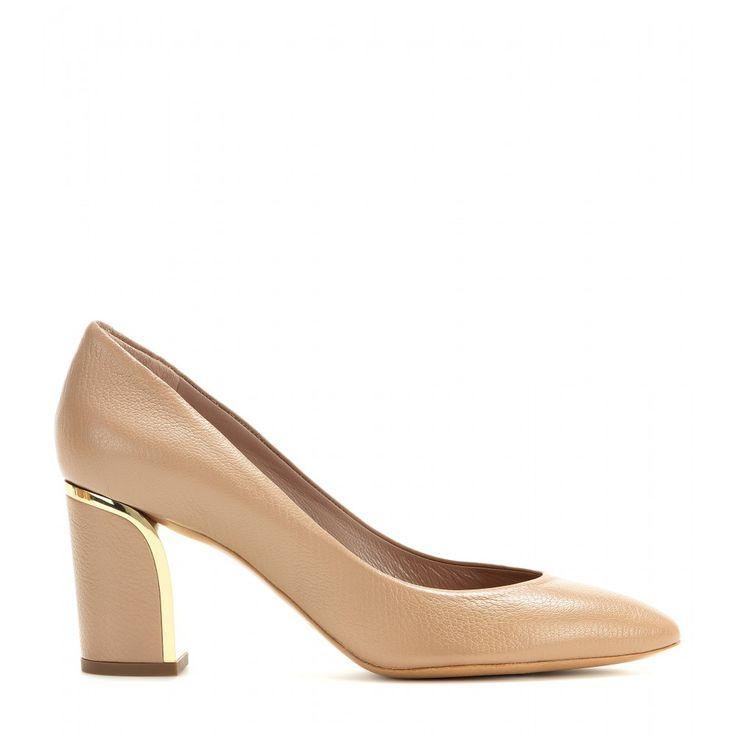 #Chloé color carne: sono loro le mie scarpe da sposa; Beckie Leather Pumps. #wedding #shoes