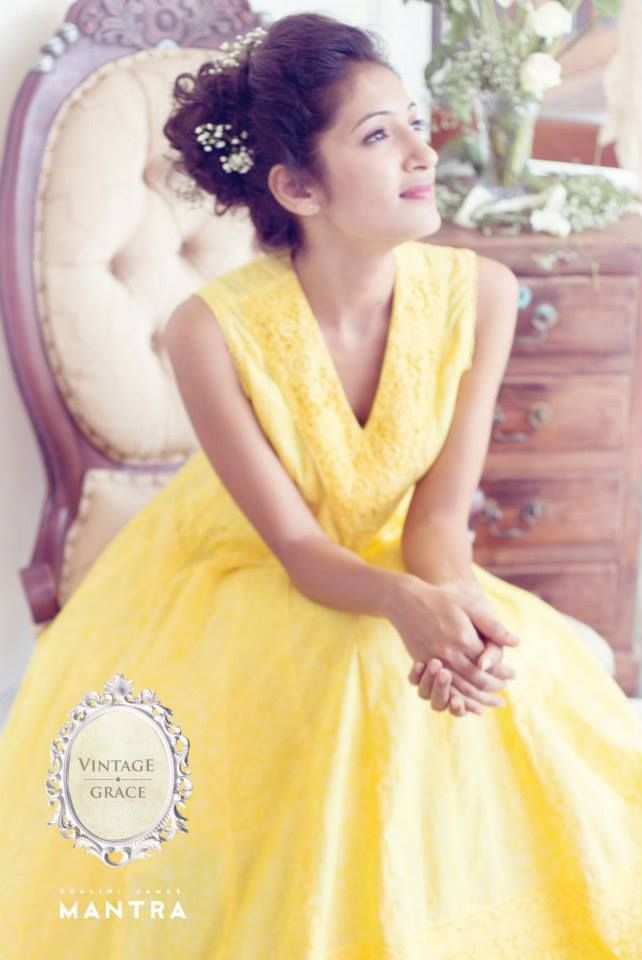 Shop for this Chamomile yellow anarkali at http://bit.ly/1P6ci2f