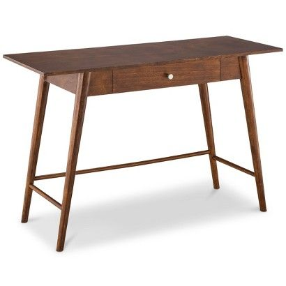 Mid Century Modern Desk/Console Table. 179.99.. This might just have to be the one. Would fill function in living room (back wall), or entryway, or desk for Cliff in storage room. This is overwhelming for me...