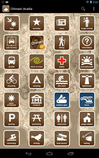 A 'Maine-made' app by people who know and love Acadia National Park! OVer 300+ unique points of interest (POIs) throughout the Park. A 35 minute audio tour with all POIs along the Park Loop Road, GPS-enabled/custom-made/high-resolution map with the option of downloading for off-line usage, ranger-led event schedules, sunrise/sunsets and tidal data for a year, Island Explorer shuttle bus schedule, 45+ hiking trails, bicycling guide, and details on camping, horseback riding, lighthouses…