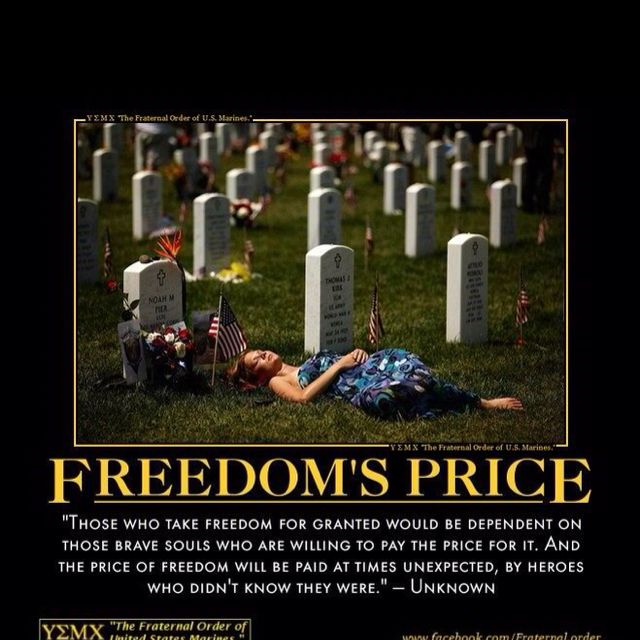 Do you know the price of liberty?