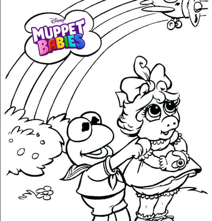 Best Muppet babies Disney Coloring Page | Best Muppet ...