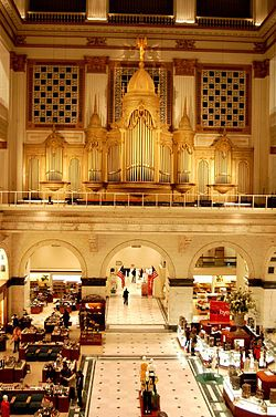 Wanamaker's..now Macy's. One of the first department stores in the US  Philadelphia