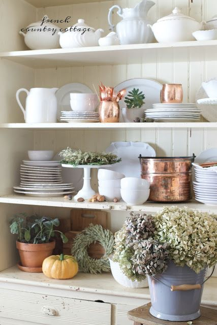 7 simple easy tips for styling a beautiful autumn cupboard & a video - FRENCH COUNTRY COTTAGE