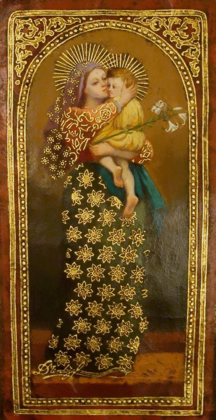 Madonna with lavender veil by Diana Mendoza