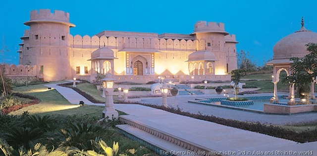 The Oberoi Rajvilas which is siutated in the Pink City, Jaipur is at the number sixth place in the list of the top  best #hotels in the country.