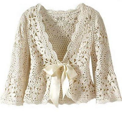 Beautiful crochet cardigan. Charts included.