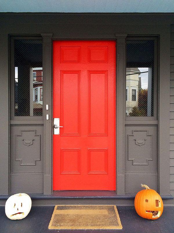 Vermillion Front Door In 2019 Red Door Orange Front