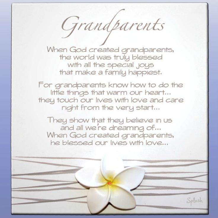 Grandparents Splosh Frangipani Poem - Gorgeous Gifts