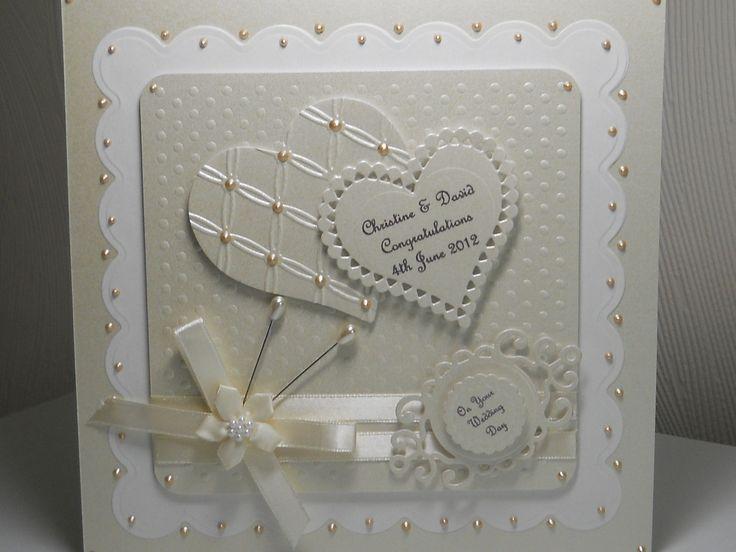 "PERSONALISED HANDMADE,8""x8""  WEDDING DAY, ANNIVERSARY, ENGAGEMENT CARD WITH BOX uk.picclick.com"