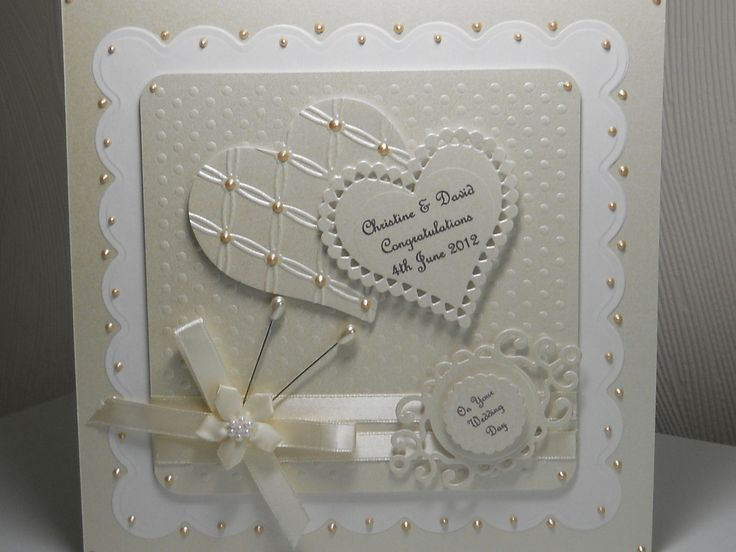"PERSONALISED HANDMADE,8""x8""  WEDDING DAY, ANNIVERSARY, ENGAGEMENT CARD WITH BOX uk.picclick.com"