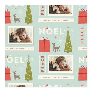 'Retro Noel Wrapping Paper', on Minted.com