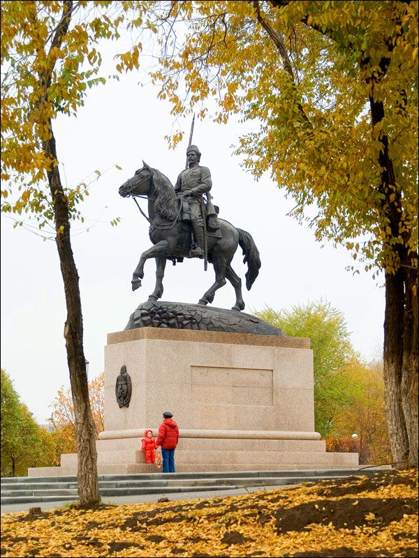 Cossacks monument, Orenburg Russia