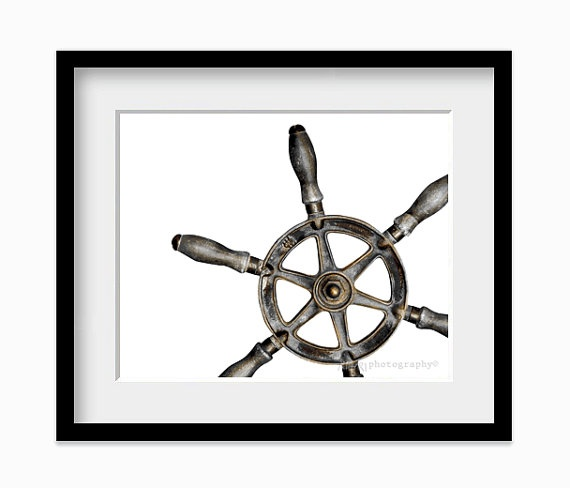 Ship Wheel Wall Art Nautical Decor For Dudes by AldariArt on Etsy, $18.00