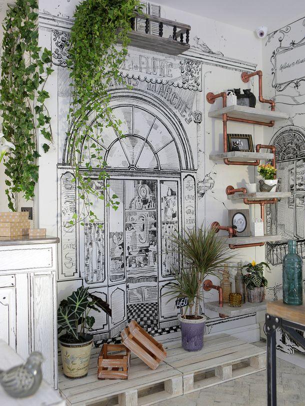 Картинки по запросу цветочный декор комнаты