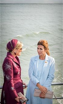 - Queen Maxima of The Netherlands and Juliana Awada during an boat trip in the harbor of Rotterdam on March 28, 2017 in Rotterdam, The Netherlands. The President of Argentina is in the Netherlands for a two-day official state visit.