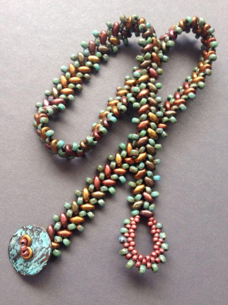 Beth Stone Designs Superduo Woven Bracelet Beaded