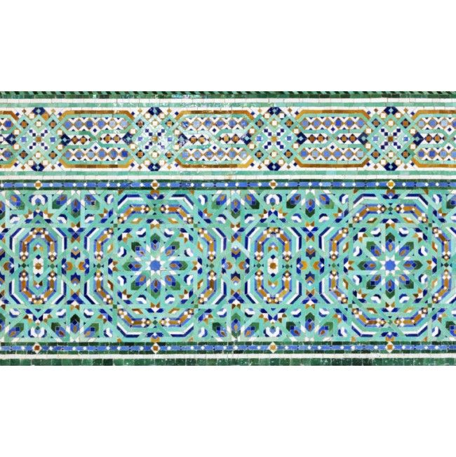 Stunning Ornate Tiled Decor High Quality Removable Wall Mural