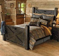 Barn door bed frame.