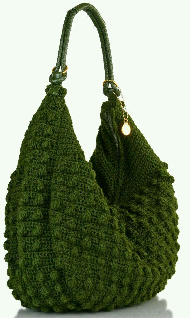 By Mariza Crochet Designer: Bolsa Crochet c ponto pipocas Pinterest