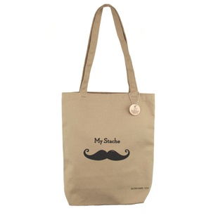 Stash your 'stache and books in this adorable tote!: Bookish Things