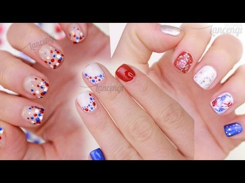 62 best blue nail art designs tutorials and ideas images on diy memorial day nail art three cute easy designs prinsesfo Image collections