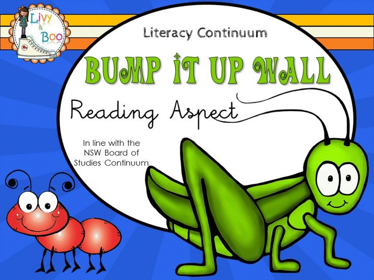 Bump It Up Wall - Australian Literacy Continuum - Reading. This cute Insect themed Bump It Up Wall includes 63 indicators in line with the NSW Board of Studies Literacy Continuum - Reading Aspect - Clusters 1 - 12.