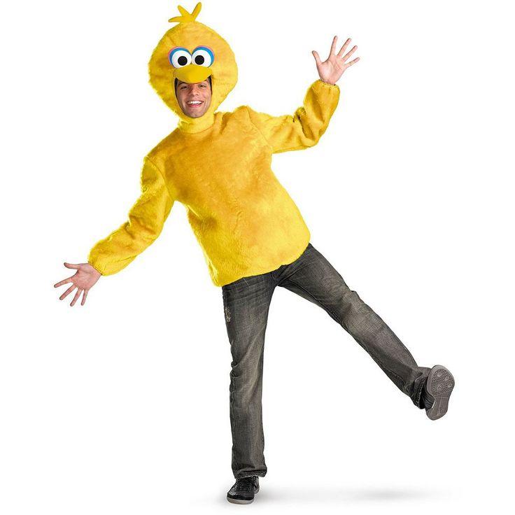 Sesame Street Big Bird Costume - Adult, Men's, Size: XL, Yellow