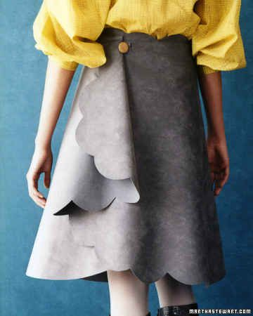 This skirt requires no sewing and gets its cool design from an oatmeal cannister.