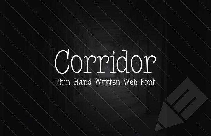 Medialoot - Corridor - Thin Hand Written Web Font
