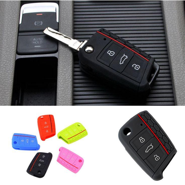 Accesorios del coche Cubierta de la Llave Llave de La Caja Dominante Para Volkswagen VW Golf 7 mk7 para Skoda Octavia para Portect A7 Llave de Silicona Caso