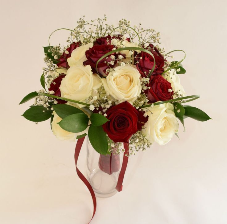 Bouquet de mariée en roses