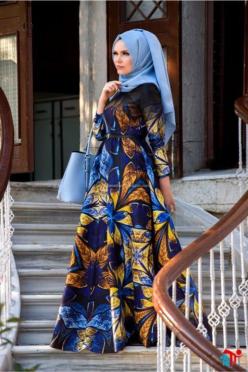 Kelebek Desen Twil Abiye Muslima Wear | Kayra | Armine | Setrms | Aker | Alvina