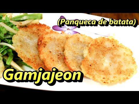 """Panqueca"" coreana de batata (Gamjajeon)- 감자전 - YouTube"